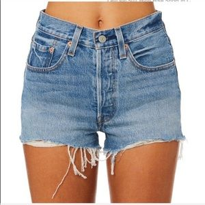 Levi's 501's High Waisted Jean Cut Off Shorts